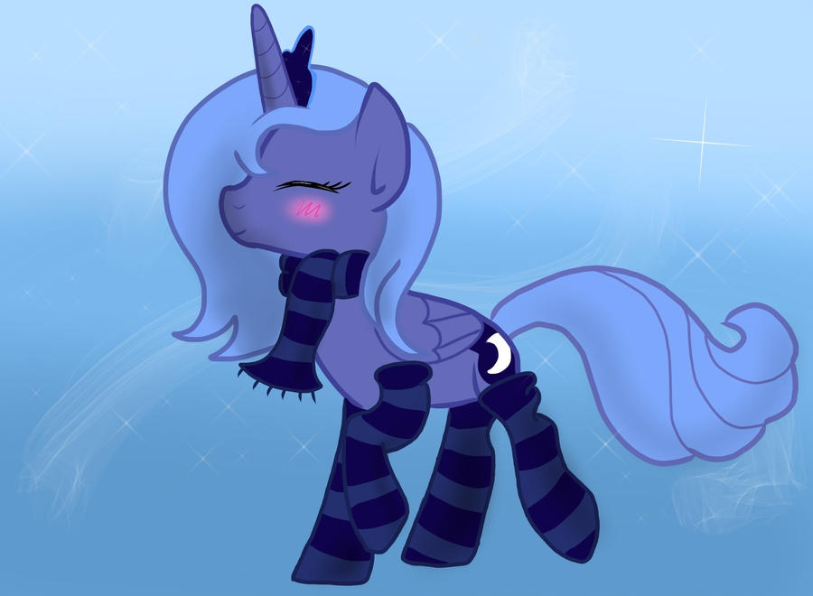 Socks and Scarf for Princess Luna by DallyDog101