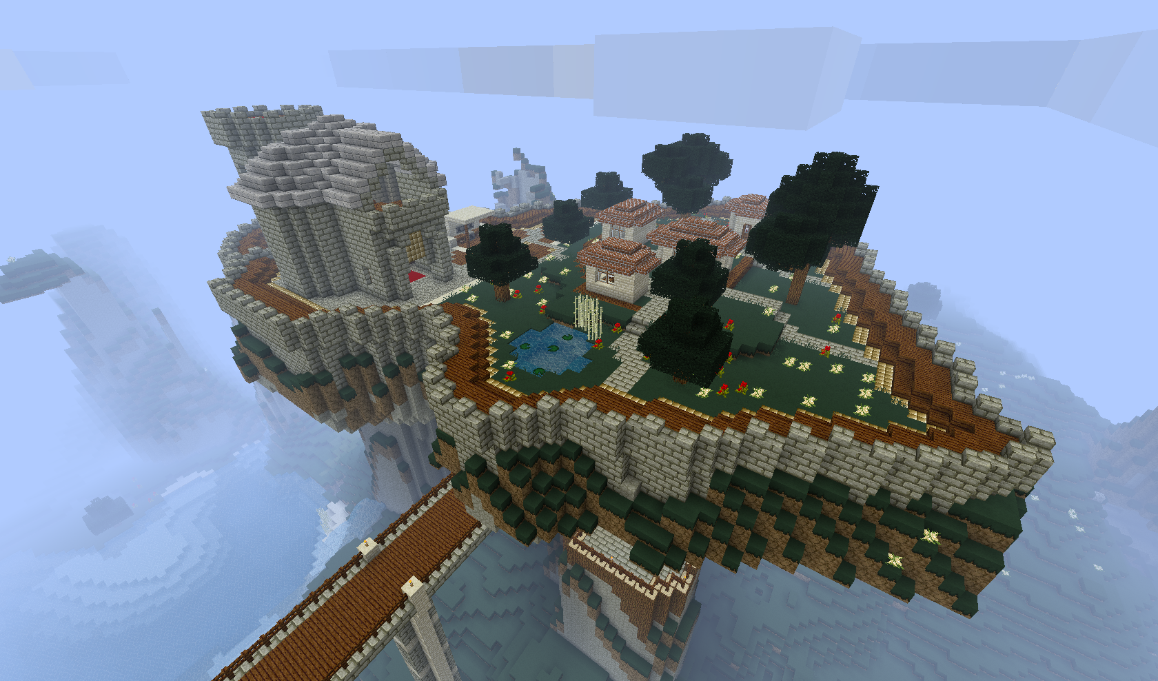 Minecraft - Mountaintop Castle I by Trilbies