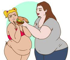Eat the burger