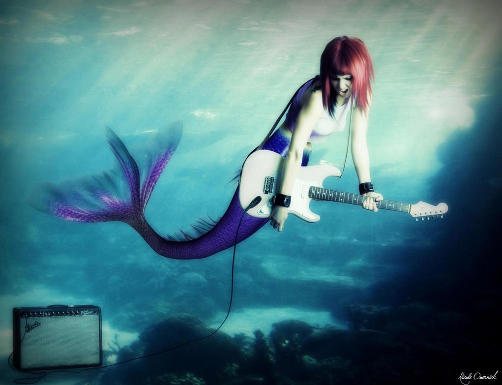 Rock n Roll Mermaid by Fantasy Mermaids On Rocks