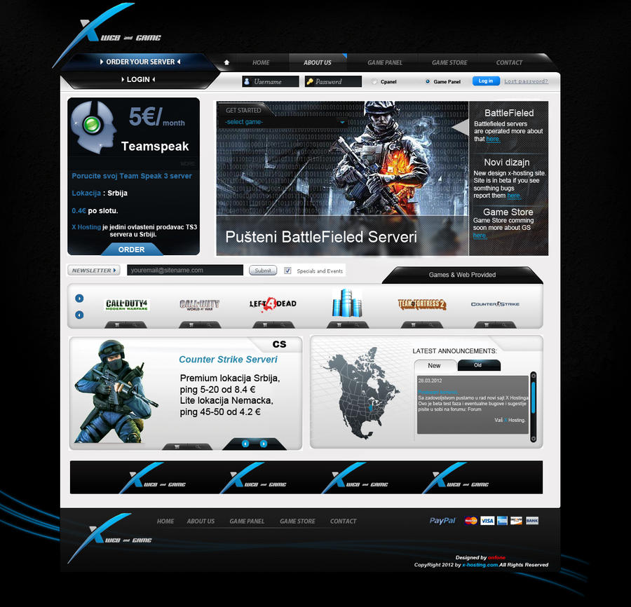 game i web hosting template blue by adiartdessing on deviantart