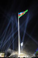 Azerbaijan Flag point by Azerbaijan