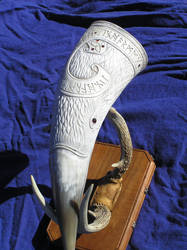 Very large Raven horn and antler stand pic 3
