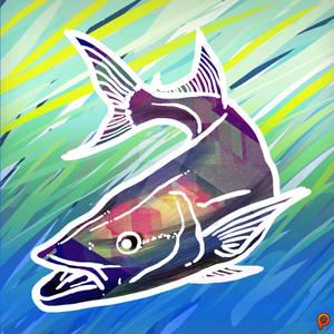 Cobia Fish Art