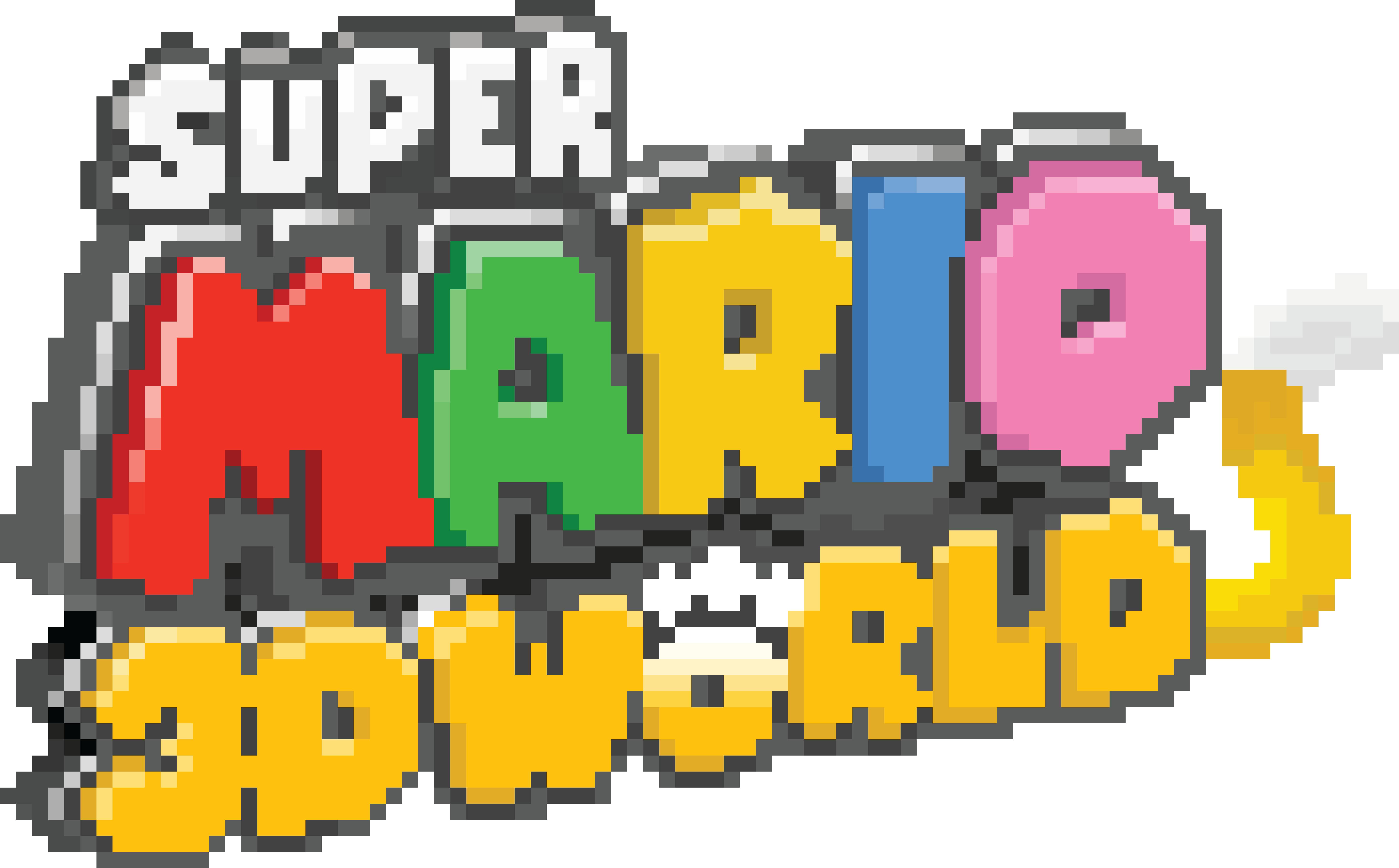 Super Mario 3d World Logo Pixel Art By Djtoast3 On Deviantart