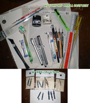 My Standard Manga Equipment