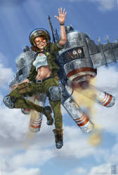 Jetpack Girl by IvanChanCL