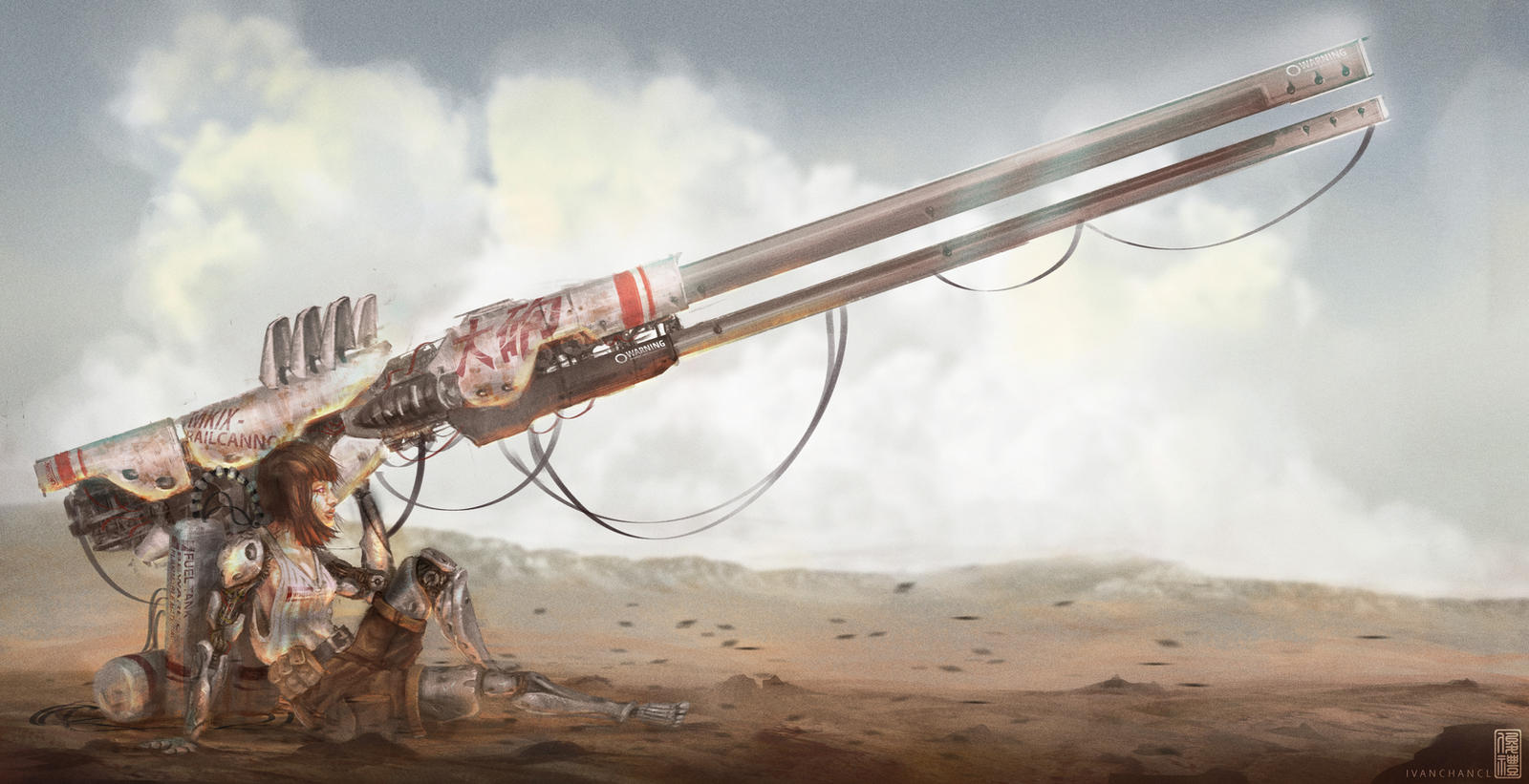 Rail Cannon Girl by IvanChanCL