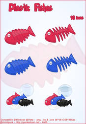 Plastic Fishes Icons by mimipunk