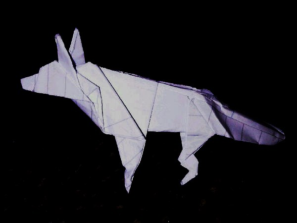 Origami wolf by