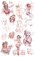 pinup sketches