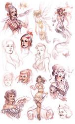 pinup sketches