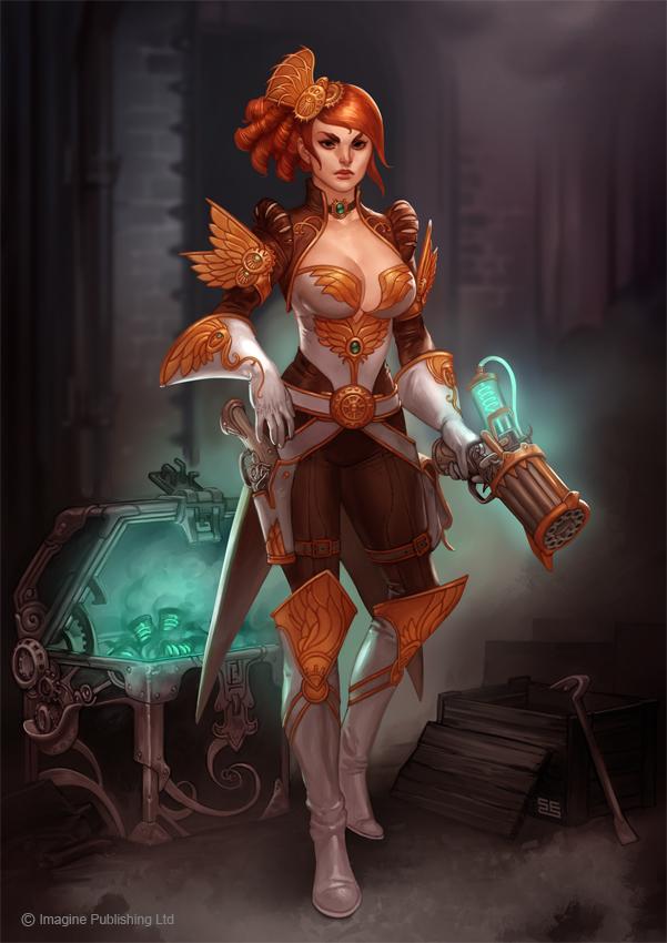 Steampunk Heroine by Scebiqu