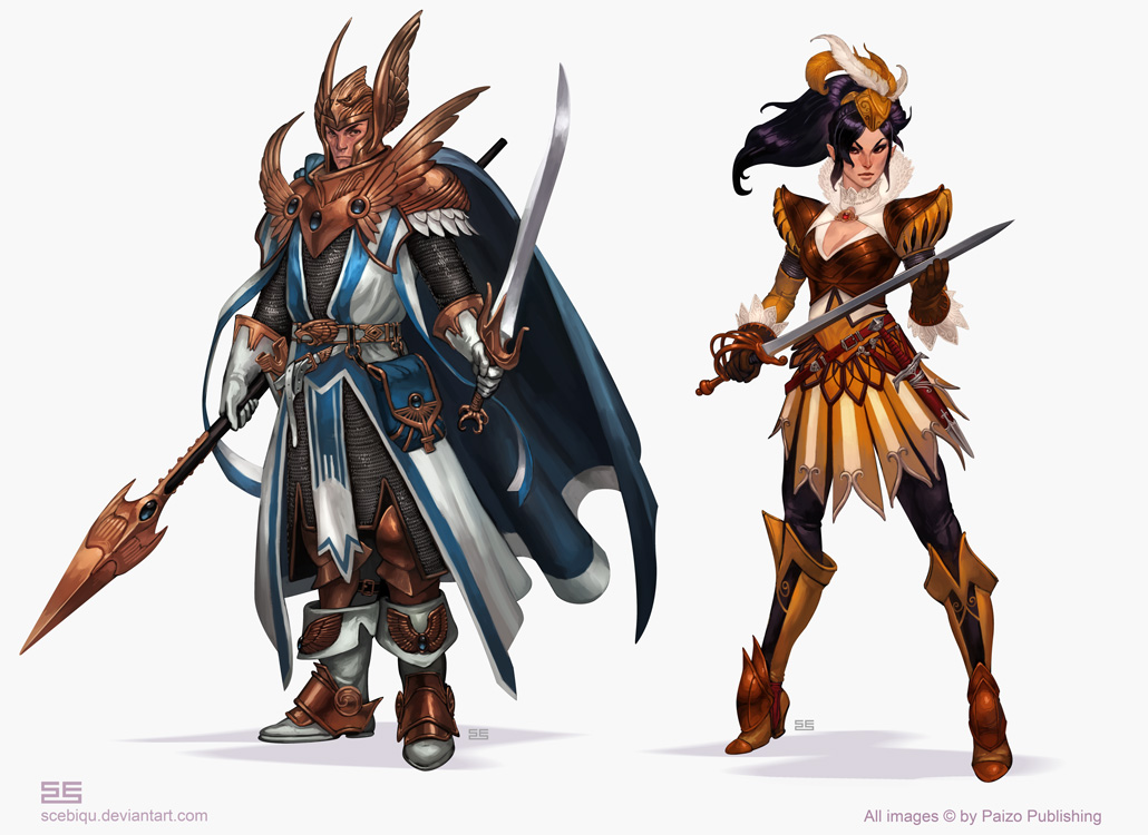 Pathfinder Paladins 3 by Scebiqu on DeviantArt