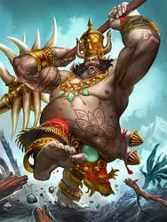 SMITE Kumbhakarna - The Sleeping Giant by Scebiqu