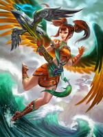 SMITE reborn JingWei by Scebiqu