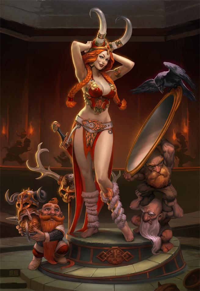 Freya - Horns of a dilemma by Scebiqu