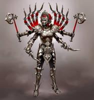 Smite Battle Armor Kali concept by Scebiqu