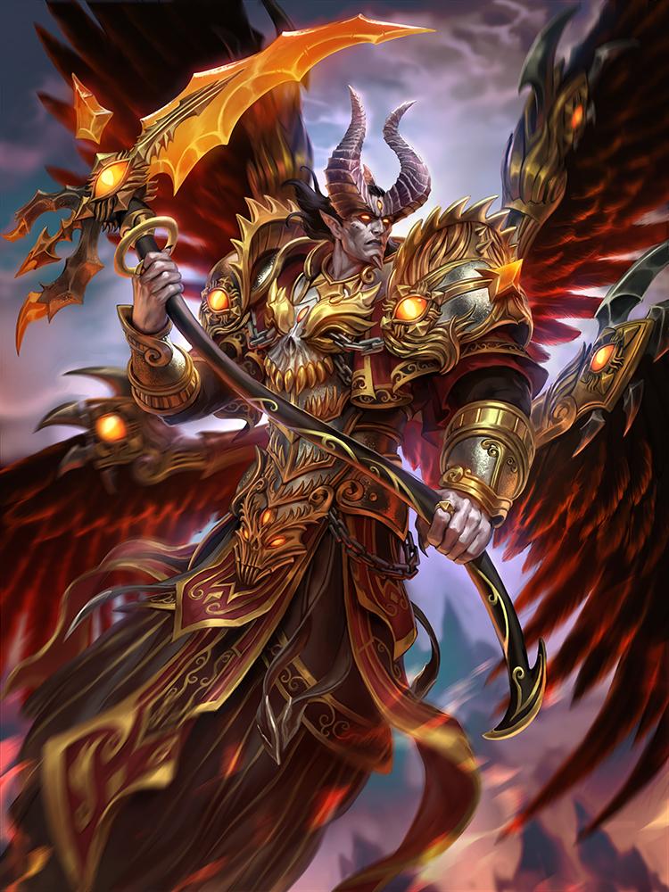 SMITE Demonic Thanatos by Scebiqu on DeviantArt