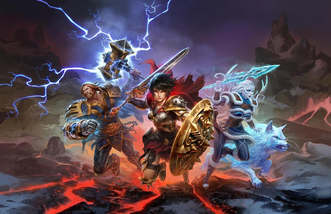 SMITE - Battleground of the Gods by Scebiqu