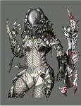Female Predator Illustration