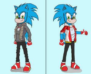 Sonic Underground AU - Sonic the Hedgehog Redesign