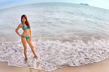 ...blue sea, blue sky by SAMLIM