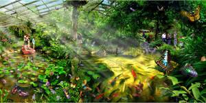 Paradise Of Butterflies by SAMLIM