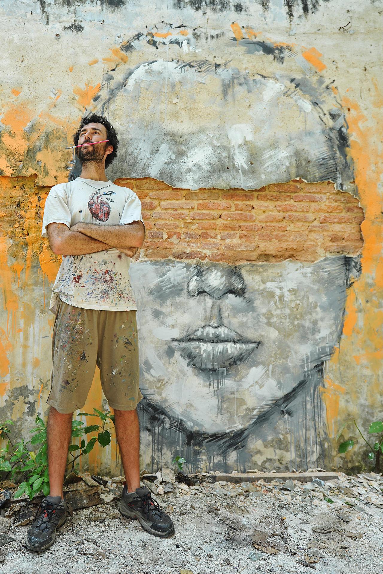 SATH....mural wall artist by SAMLIM