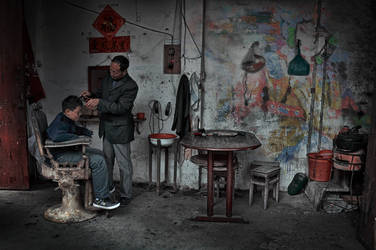 The Nostalgia of the Old Time Barber Shop.... by SAMLIM