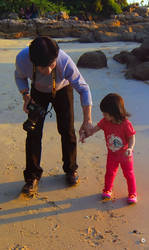 Father and Daughter Never Say Goodbye