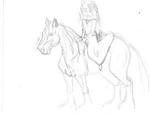 Merida and Angus quick sketch