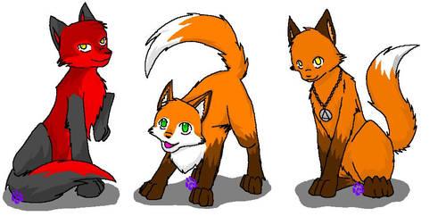 NINJA FOXES by totally-kira