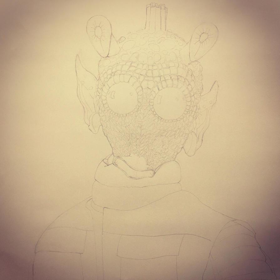 Greedo in progress by PencilForceArt