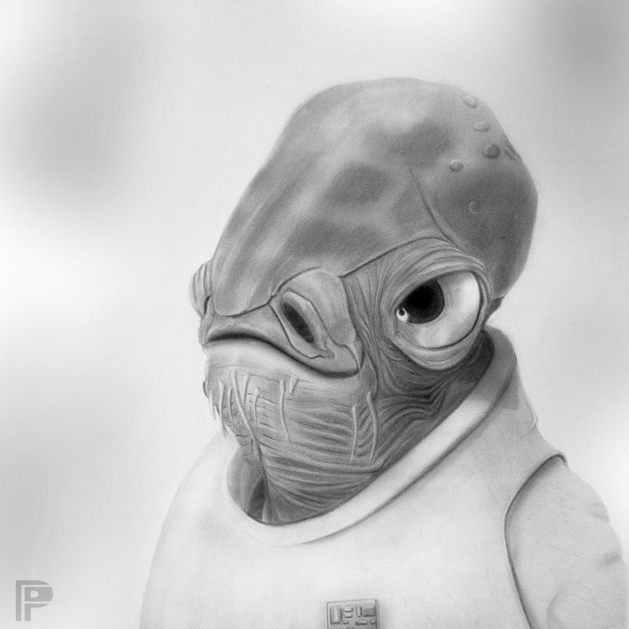 Admiral Ackbar | Star Wars by PencilForceArt