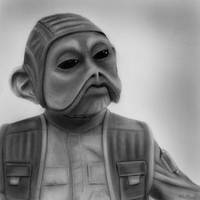 Nien Nunb | Star Wars by MikeManuelArt