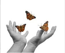 Hands-releasing-butterflies-emoticon by SueJO