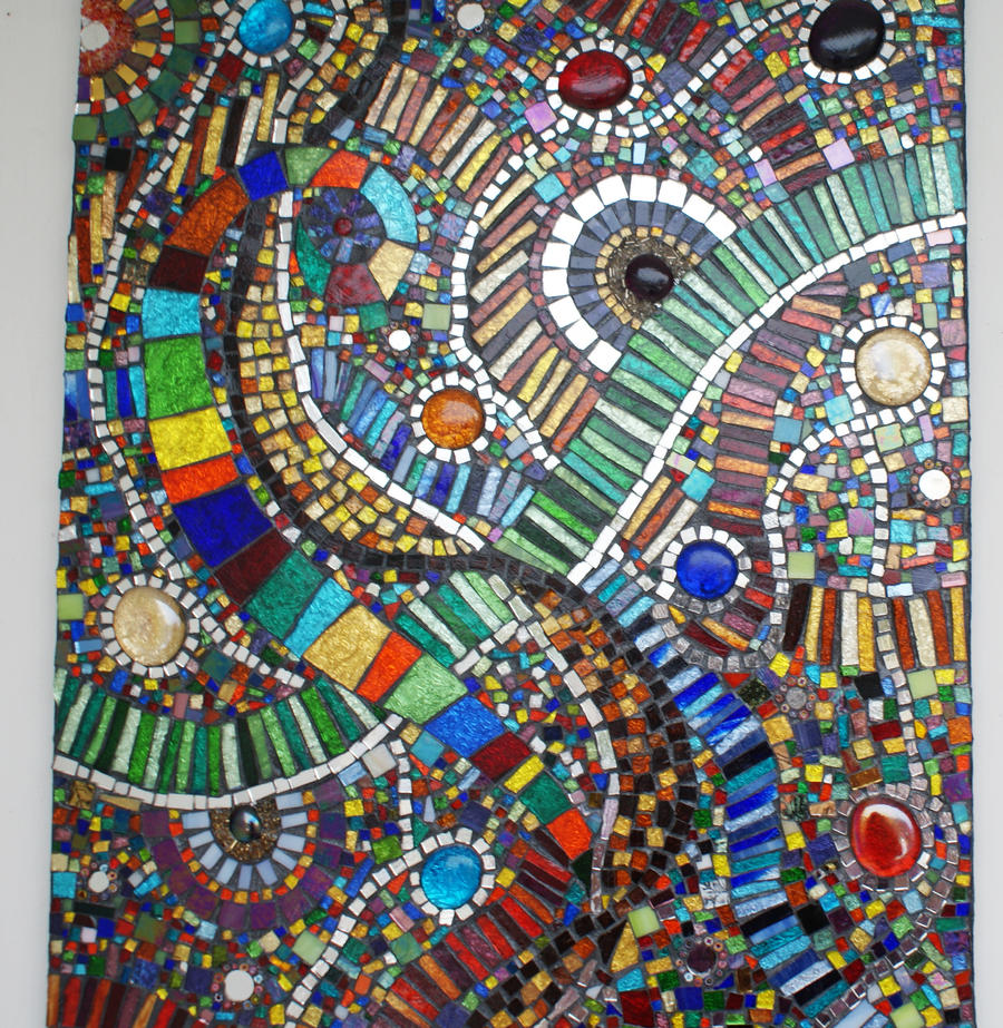 Mosaic for my front door by Manicmosaics