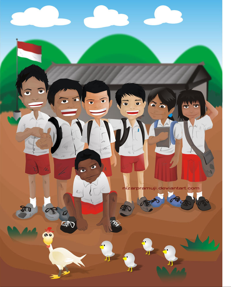 kartun anak sekolah