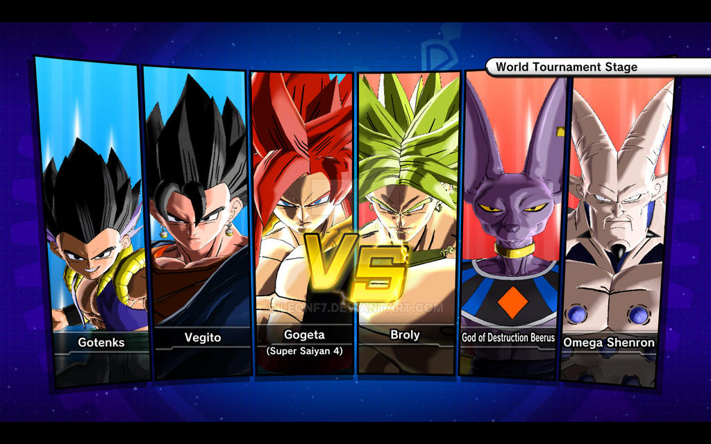 Gogeta SS4, Vegito Gotenks VS. Broly, Beerus and by LeonF7 ...