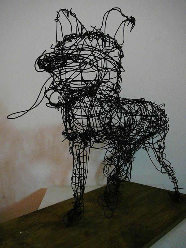 Wire sculpture dog by mindseye900 on deviantart for Dog wire art