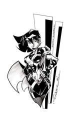 Gothic Supergirl INKS
