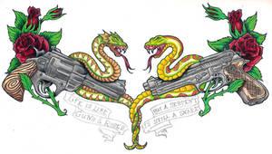 Snakes n Guns n Roses by BlvqWulph