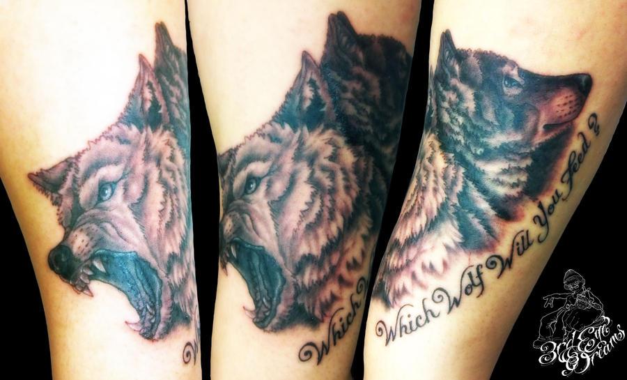 good wolf bad wolf tattoo