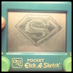 Etch-A-Sketch Art:: Superman by BlvqWulph