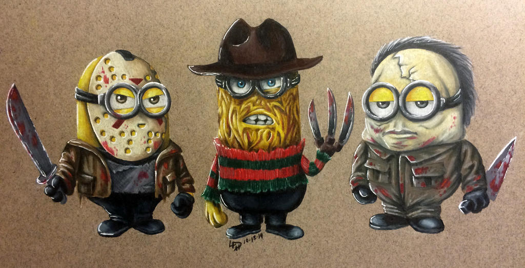 Classic Horror Minions by Wolfish-Dreams