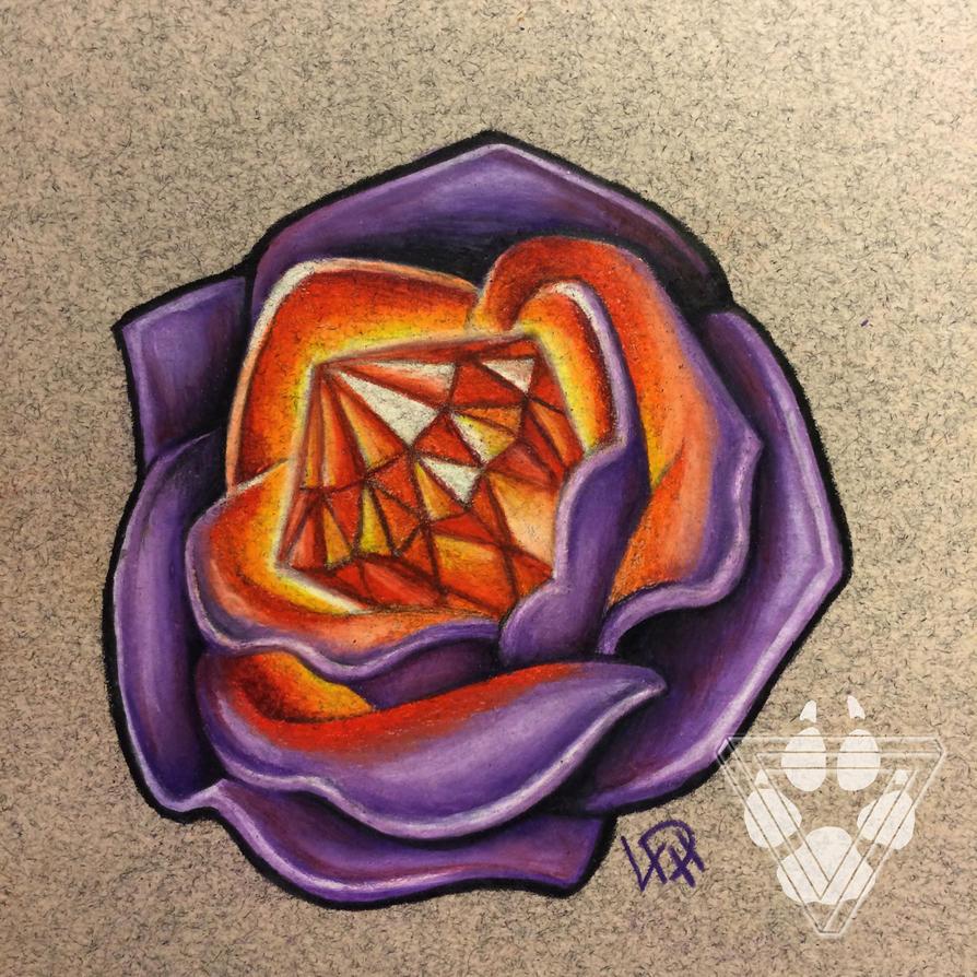 Topaz Glow - Jeweled Rose by Wolfish-Dreams