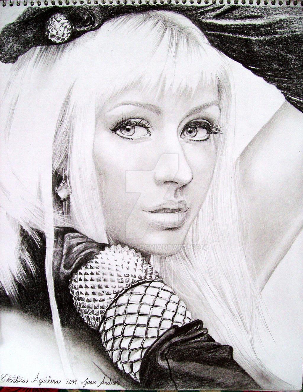 Christina Aguilera Drawing SW by jardc87