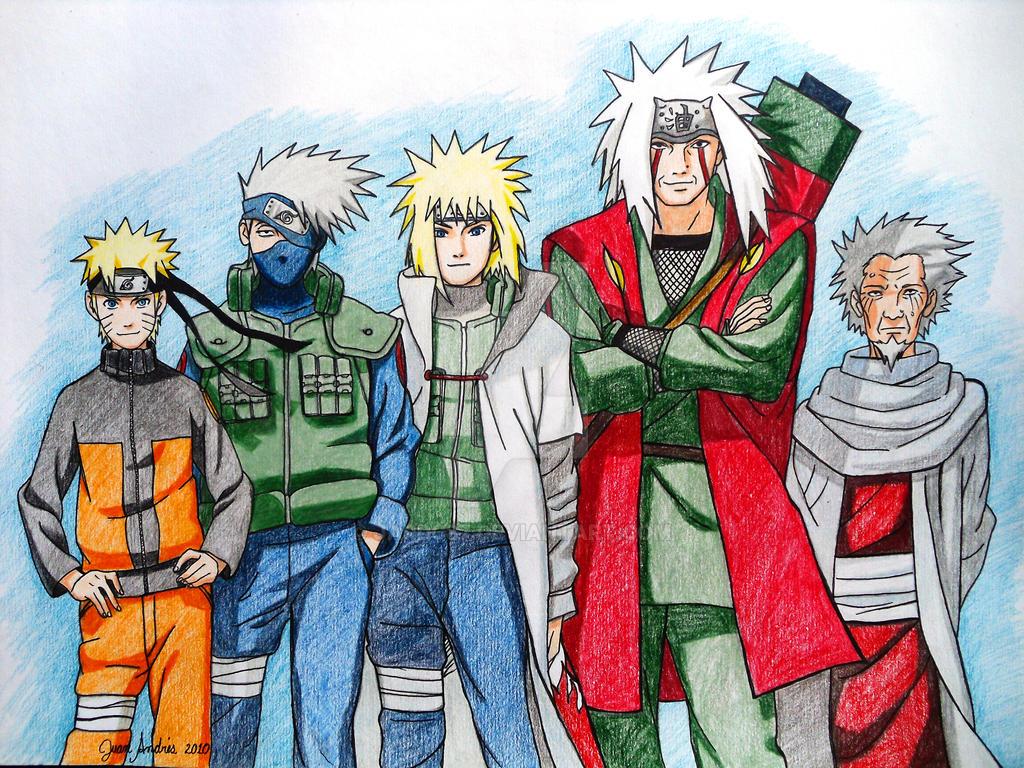 Naruto, Kakashi, Minato... by jardc87