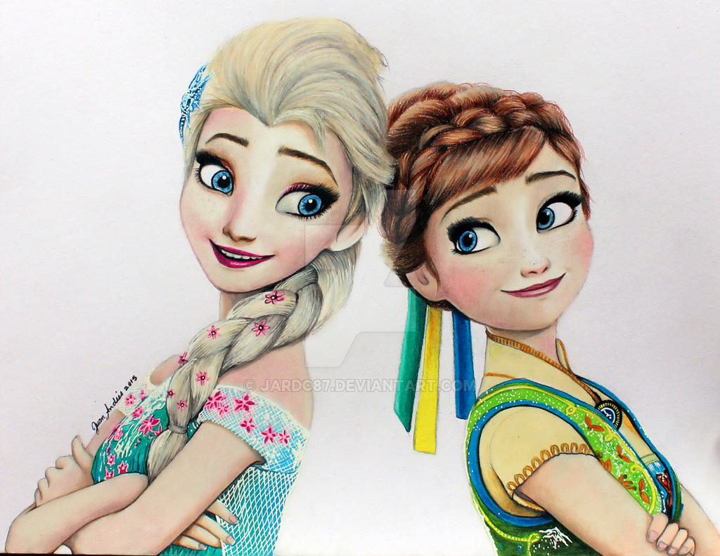 Elsa and anna frozen fever by jardc87 on deviantart elsa and anna frozen fever by jardc87 voltagebd Choice Image